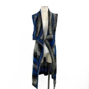 Anthropologie- MOTH Blue Gray Spacedye Duster Vest